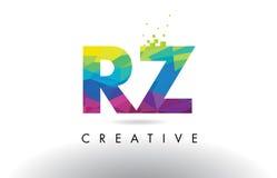 RZ R Z Origami trójboków projekta Kolorowy Listowy wektor Zdjęcia Royalty Free