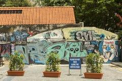 Rzadka graffiti sztuka w Singapur Zdjęcia Stock