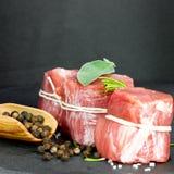 Rzadka wieprzowina polędwicowa z pieprzem zdjęcie stock