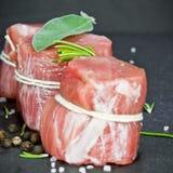 Rzadka wieprzowina polędwicowa z pieprzem obraz stock