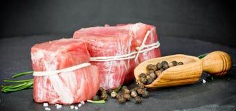Rzadka wieprzowina polędwicowa z pieprzem zdjęcie royalty free