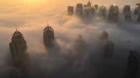 Rzadka zima ranku mgła w Dubaj zbiory