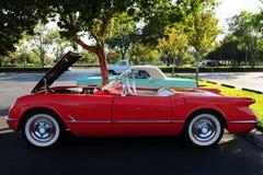 Rzadki czerwony kabriolet bawi się samochód Zdjęcie Royalty Free