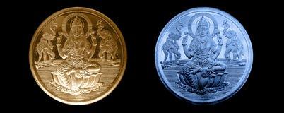Rzadki srebro i złociste monety Obraz Stock