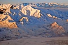 Rzadki widok z lotu ptaka skaliste góry w Utah usa Obraz Stock