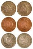 Rzadkie rocznik monety Czechoslovakia Zdjęcie Royalty Free