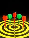 rząd dart Fotografia Stock