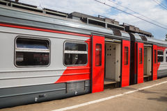 RZD train standing at platform Royalty Free Stock Images