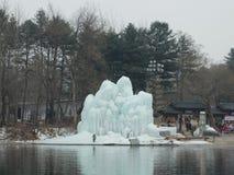 Rzeźba lód w Nami wyspie obrazy royalty free