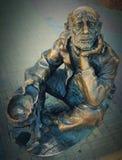 Rzeźba żebrak Obraz Royalty Free