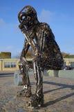 Rzeźba żelazny mężczyzna copenhagen Zdjęcia Royalty Free