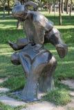 Rzeźba bawić się ludzi w Olimpijskim parku Fotografia Stock