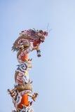 Rzeźba chiński smoka filar Zdjęcie Stock