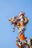 Rzeźba chiński smoka filar Obrazy Royalty Free
