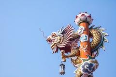 Rzeźba chiński smoka filar Obraz Stock