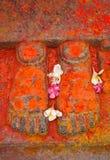Rzeźba cieki symbolizuje bóstwa w hinduism zdjęcie royalty free