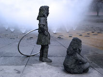 Rzeźba dzieci bawić się Obrazy Stock