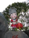 Rzeźba dziewczyny pszczoła Obraz Royalty Free