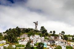 Rzeźba dziewica w Panecillo Quito Ekwador zdjęcie royalty free