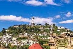 Rzeźba dziewica w Panecillo Quito Ekwador obraz royalty free