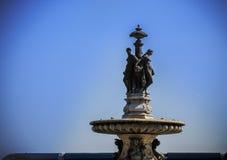 Rzeźba Fontaine des Trois Grâces na miejscu De Los angeles Bours Fotografia Royalty Free