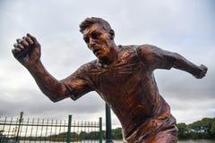 Rzeźba gwiazda piłki nożnej Lionel Messi Zdjęcia Royalty Free