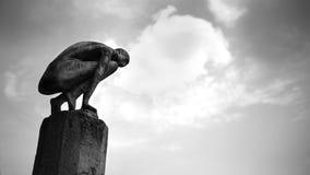 Rzeźba i chmury obrazy royalty free