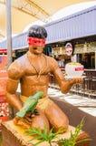 Rzeźba indyjski mienie Sobà ¡ naczynie przy wydarzeniem XIII fotografia stock