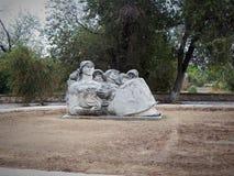 Rzeźba kobieta w Aktau zdjęcia stock