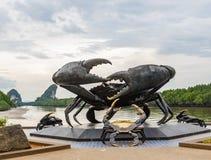 Rzeźba krab na wybrzeżu Phuket, Tajlandia zdjęcie stock