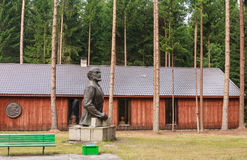 Rzeźba Lenin Grutas park zdjęcie stock