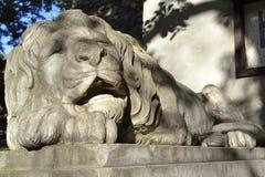 Rzeźba lew Obrazy Royalty Free