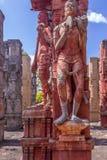 Rzeźba mężczyzna bawić się bęben, ECR, Chennai, Tamilnadu, India, Jan 29 2017 zdjęcie royalty free