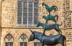 Rzeźba miasto muzycy Bremen zdjęcia royalty free