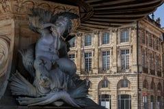 Rzeźba na miejscu De Los angeles Giełda w bordach Obrazy Stock