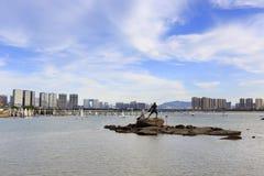 Rzeźba na skale wuyuanbay zatoka fotografia stock