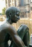 Rzeźba od chłopiec obraz stock