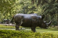 Rzeźba ogrodowy Szanghaj publicznie obraz royalty free