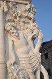 Rzeźba - pijaństwo Noah W Wenecja zdjęcie stock