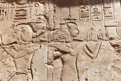 Rzeźba przy świątynią Karnak Egipt Zdjęcia Royalty Free