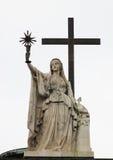 Rzeźba przy bazyliką Fotografia Royalty Free