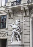 Rzeźba przy głównym wejściem obraz royalty free