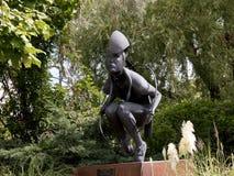 Rzeźba rodowity amerykanin w Santa Fe Nowym - Mexico obrazy royalty free