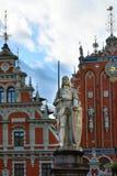 Rzeźba Roland w Ryskim, Latvia zdjęcie royalty free