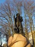 Rzeźba rybak w Klaipeda obraz royalty free
