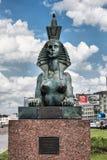 Rzeźba sfinks który jest częścią zabytek ofiary polityczna represja Petersburg Obraz Royalty Free