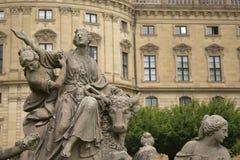 Rzeźba skład w Wurzburg, Niemcy obraz royalty free