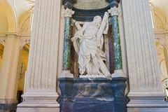 Rzeźba w bazylice święty John Lateran w Rzym, Włochy Zdjęcie Royalty Free