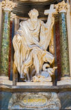 Rzeźba w bazylice święty John Lateran w Rzym, Włochy Zdjęcia Royalty Free