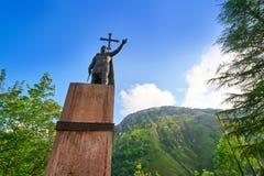 rzeźba w górach Covadonga fotografia stock